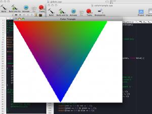 Screenshot: ME557 Assignment 0 running on Mac OS X