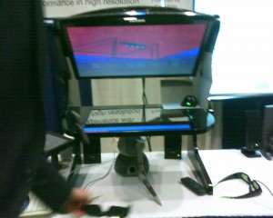 LCD-based stereo haptic coincident workspace from SenseGraphics